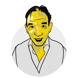 Illustrated version of Bob Baldwin